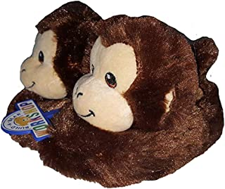 Build-A-Bear Workshop Smiley Monkey Character Slippers