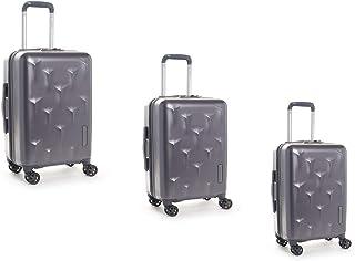 هيدجرين طقم حقائب سفر إيدج بعجلات, 3 قطع مع 4 عجلات, رصاصي - HEDG03N-096-01