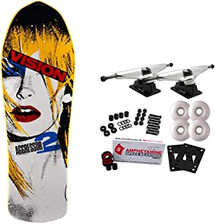 Vision Skateboards Complete Old School Aggressor 2 Yellow 10.25