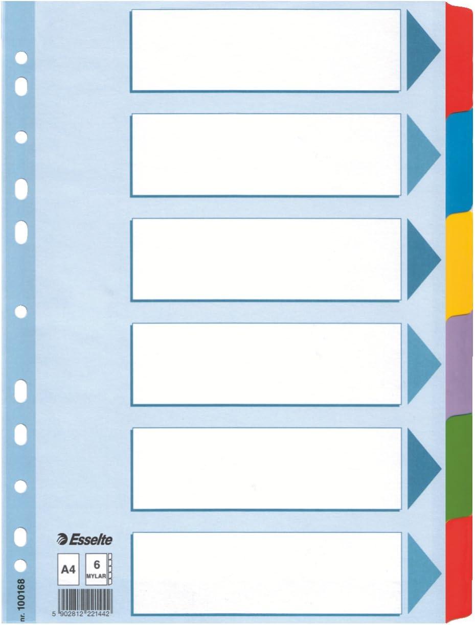 Blau//wei/ß 31 Trennbl/ätter Esselte Register f/ür A4 100156 Robuster Kunststoff Taben mit Zahlenaufdruck 1-31