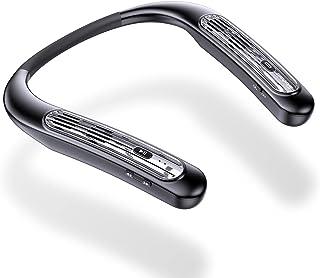 ウェアラブル ネックスピーカー Bluetooth 5.0 ポータブルスピーカー 完全ワイヤレス 首掛けスピーカー ポータブル ネックすぴーかー 15時間連続再生 ノイズキャンセリング ハンズフリー&イヤーフリー