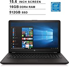 2019 Premium Flagship HP Pavilion 15.6 Inch Laptop (Intel Celeron N4000 up to 2.6GHz, 16GB DDR4 RAM, 512GB SSD, Intel UHD 600, WiFi, Bluetooth, HDMI, DVD, Windows 10) (Renewed)