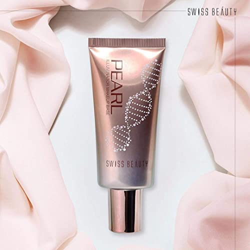 Swiss Beauty Pearl illuminator Makeup Base Liquid (Silver Pink, 35 g)