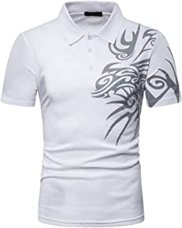 STORTO Mens Print Lightweight T-Shirt Casual Soft Quick Dry Tees for Fishing Tops