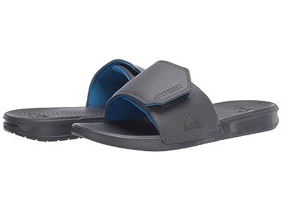 Quiksilver Bright Coast Adjustable Slides (Grey/Grey/Grey) Men