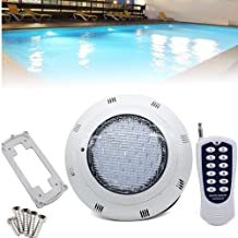 LED RGB Underwater Swimming Pool Light 45W 12V AC/DC 304 Stainless Steel Color Changing Surface/Wall Mounted Waterproof IP68 Submersible Inground Pool Light with Remote/450 LEDs 7 Colors changing repl