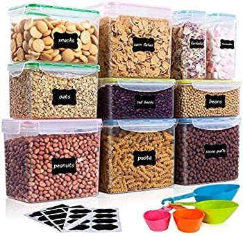Vtopmart 10-Piece Food Storage Container Set with 24 Labels