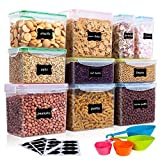 Vtopmart Airtight Food Storage Containers 10Pcs Set, Flour Containers, Great for Sugar and Baking...