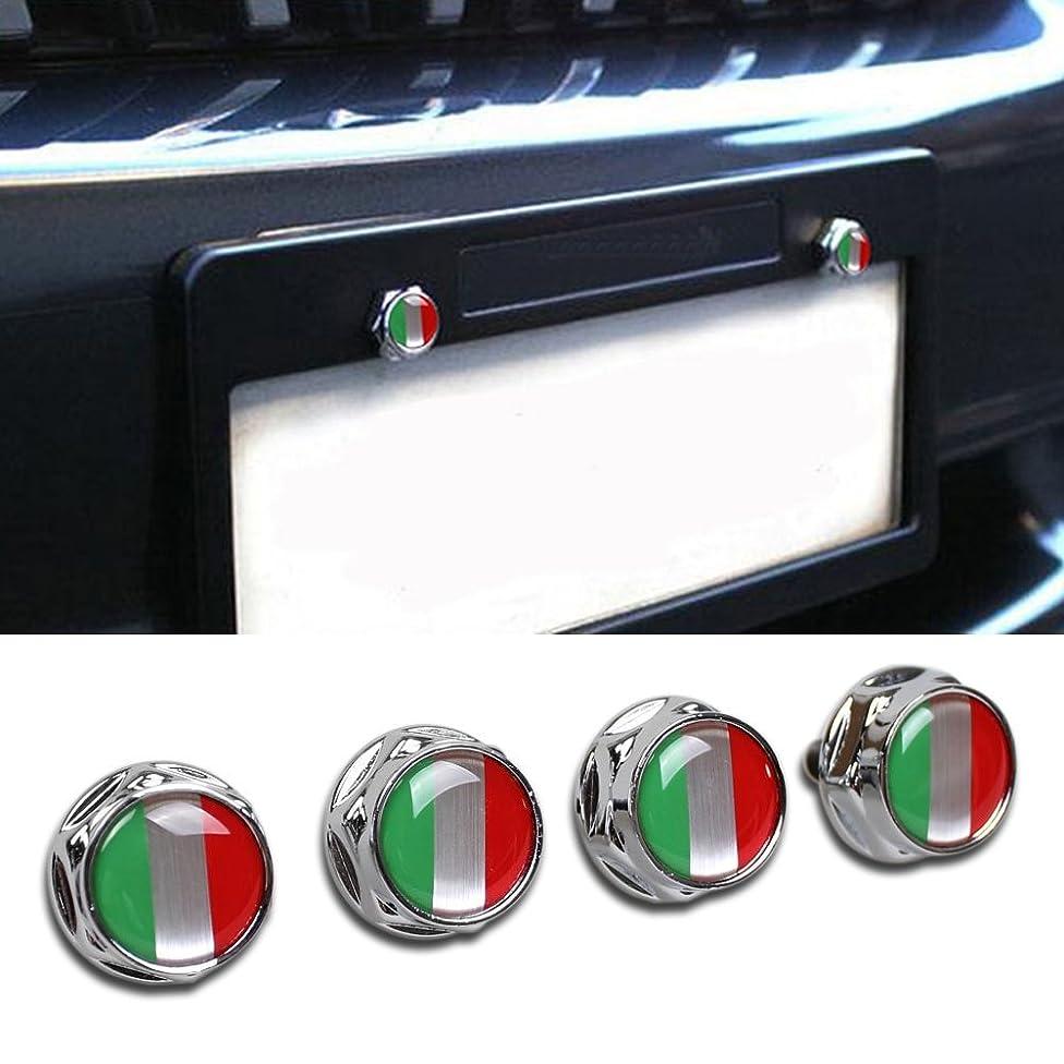 Beautost Racing Sports Italy Italian Flag Car Emblem License Plate Frame Screw Bolt Fastener Bolts