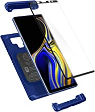 Spigen Thin Fit 360 Designed for Galaxy Note 9 Case (2018) Tempered Glass Screen Protectors Included -Ocean Blue