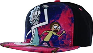 RICK AND MORTY Galaxy Run Baseball Cap, Mens, Black, One Size