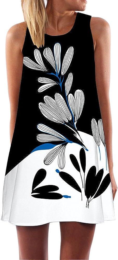 Ulanda-Dresses Women's Boho Beach Cover Up T-Shirt Short Dress