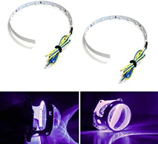 iJDMTOY Bright Purple 15-SMD High Power LED Demon Eye Halo Ring Kit for Car Motorcycle Headlight Projectors or Aftermarket 2.5 2.8 3.0 Inch Retrofit Projector Lens