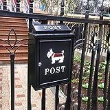 Villa al aire libre europea del buzón de correo, buzón impermeable creativo de pared del jardín