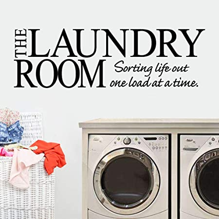 Laundry Room Sorting Out Life One Load At A Time Wall Decal  Laundry Room Quote  Removable Wall Art Home Decor  Vinyl Sticker Decal