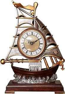 Alarm Clock الإبداع المنضدية ساعة زخرفة المنزل الحنين البلاستيكية الجدول ساعة صامتة مانتل ساعة مع حركة الاجتياح الثانية 1...