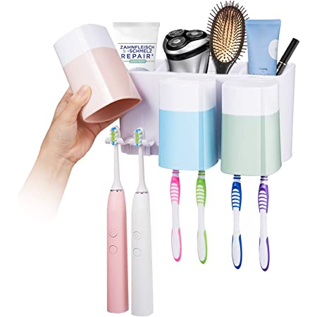 Wall Mounted Electric Toothbrush /& Toothpaste Storage Holder Bathroom Organiser
