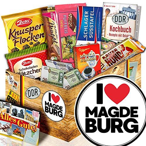 I love Magdeburg - Magdeburg Geschenk - Präsentkorb Schokolade DDR