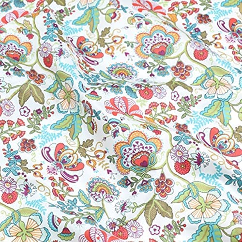 Ranking TOP16 555TEAM Floral 100% Cotton Fabric Making 35% OFF for ClothesDress Sewing