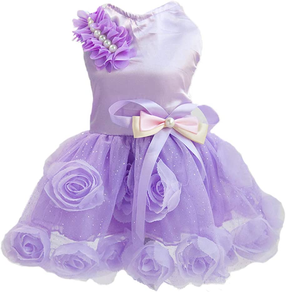 Delifur Dog Wedding All stores are sold Dress Pet Party Tutu for Super Special SALE held Smal Birthday