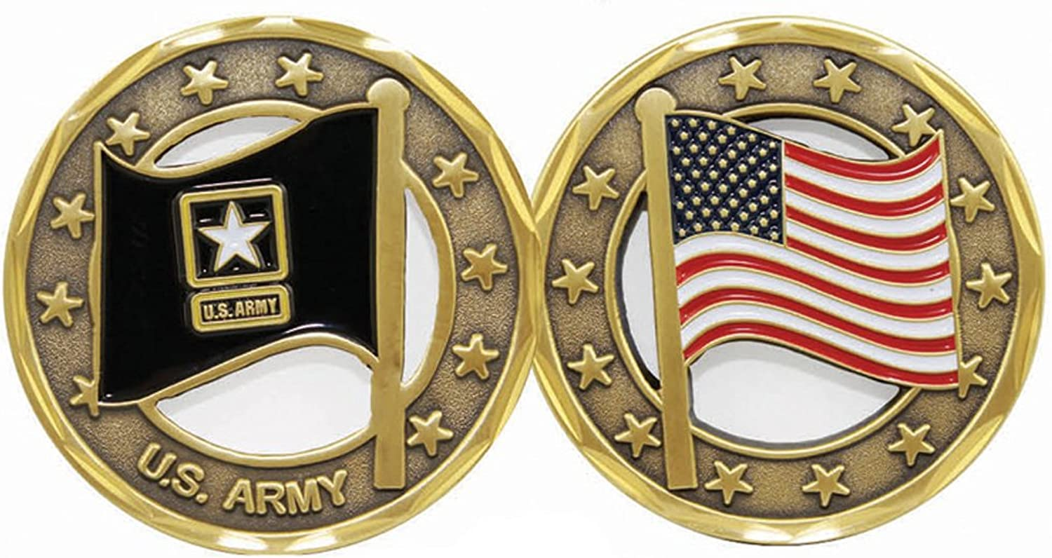 U.S. Army Logo Flag Cut Out Challenge Coin
