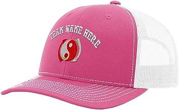 Custom Richardson Trucker Hat Jeet Kune Do Embroidery Team Name Polyester Snaps