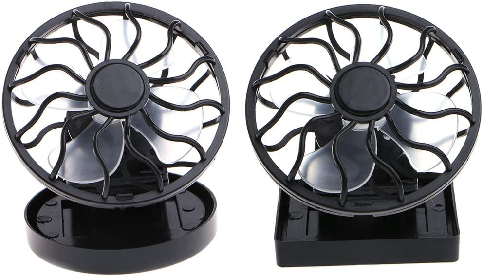 Fanct Mini Portable Clip-On Solar Powered Cooling Fan for Travel Camping Fishing Air Cooler