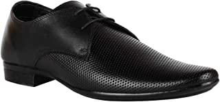 Franco Leone Men's Black Lace-up Formal Shoes