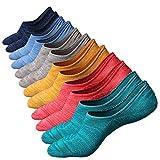 Anliceform Calcetines tobilleros premium de algodón, estilo casual, antideslizantes para hombre. (6 Pares)
