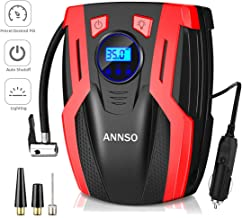 ANNSO Air Compressor Tire Inflator,Car Tire Pump Air Pump for Car Tires, 12v Digital Car Tire Inflator with Gauge LED Ligh...