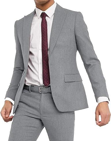 Juego de 2 piezas de traje de espiga para hombre, chaqueta de ...