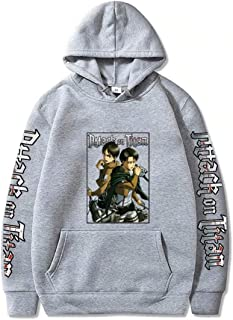 Luohua Anime Attack on Titan Sweat à Capuche Costume Unisexe Manga Attaque sur Titan Cosplay sweatshiets Pull décontracté ...