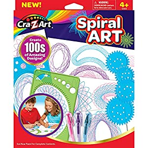 Create amazing spiral art designs! 3 colored gel pens! Fun and easy to do!