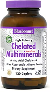 Sponsored Ad - Bluebonnet Nutrition High Potency Chelated Multiminerals (Iron-Free) Caplets, 120 Count