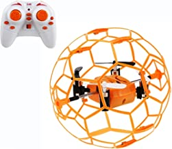 $24 » Haktoys HAK901 Mini R/C Drone in a Ball Shape | Protective Frame Cage 2.4GHz 4 CH 3D Flip/Roll LED RC Quadcopter with 6 Axis Gyroscope and Slow-Fast Speed Modes | Great for Beginners, Kids and Adults