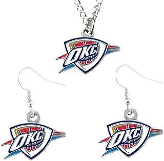 NBA Oklahoma City Thunder Logo Earrings & Pendant Set