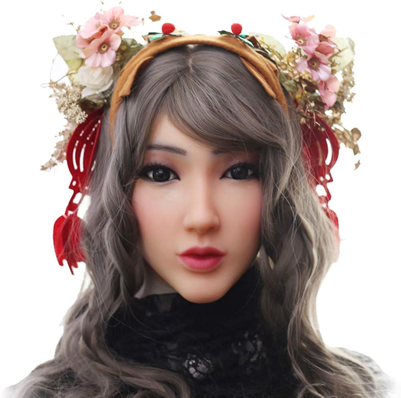 Crossdresser Silicone Mask Female Headwear Realistic Goddess