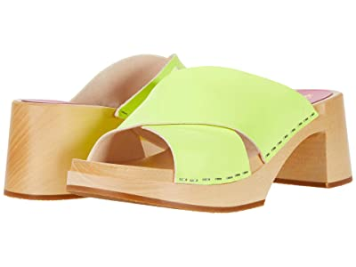 Swedish Hasbeens Anette High (Neon Yellow) Women
