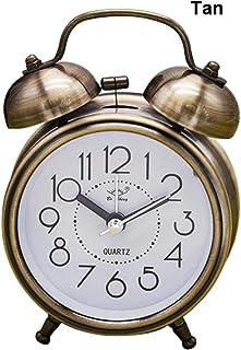 Rich-home Despertador Silencioso Vintage Creativo De 3 Pulgadas Reloj Silencioso