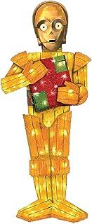 Kurt Adler Lighted Tinsel Fabric C3PO Decoration, 28-Inch