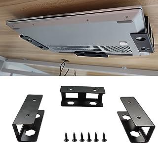 PIAOLGYI Black Under Desk Laptop Holder Mount with Screw,Under Desk Laptop Mount Bracket,Add On Under Table Laptop/Keyboar...