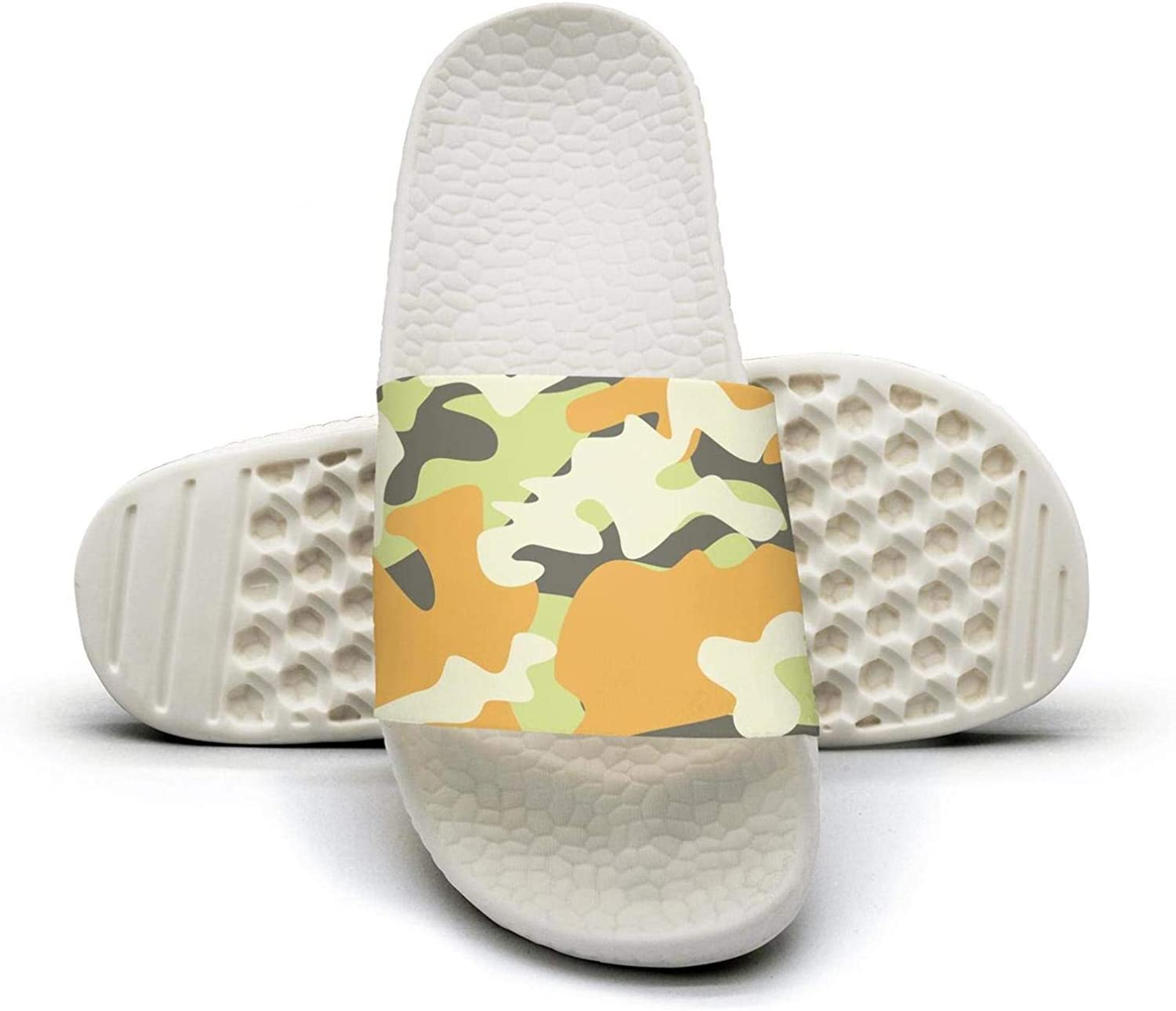 Attractive Women Multicam Camouflage Camo bluee Slip on Beach Sandals and Anti-Slip Shower Slipper Comfort Sandals