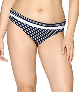 Curvy Kate Womens CS003503NAV Sailor Girl Foldover Brief Bikini Bottoms - Multi