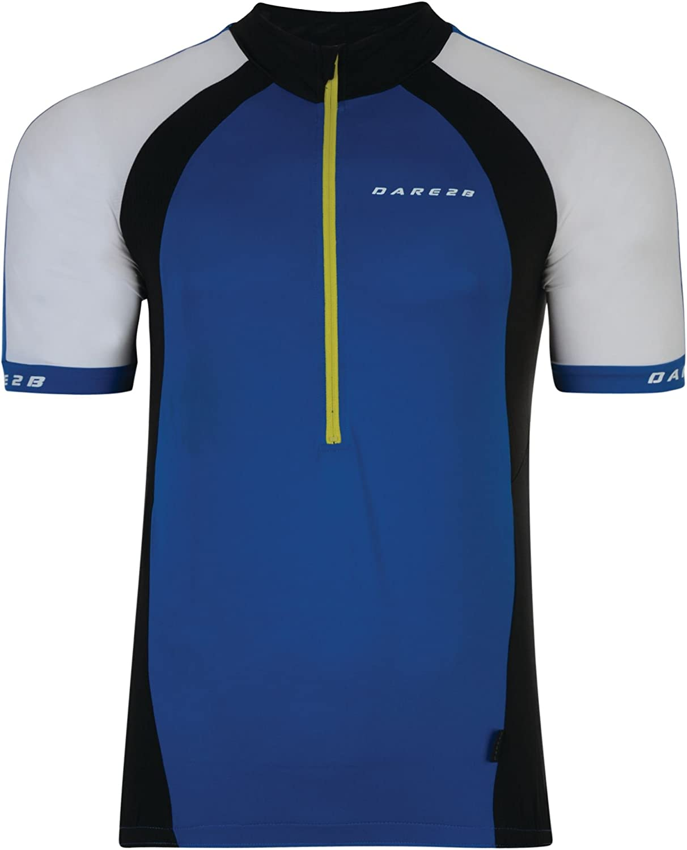 Mens Dare2b Outstart Cycling Jersey Top Fluro Yellow
