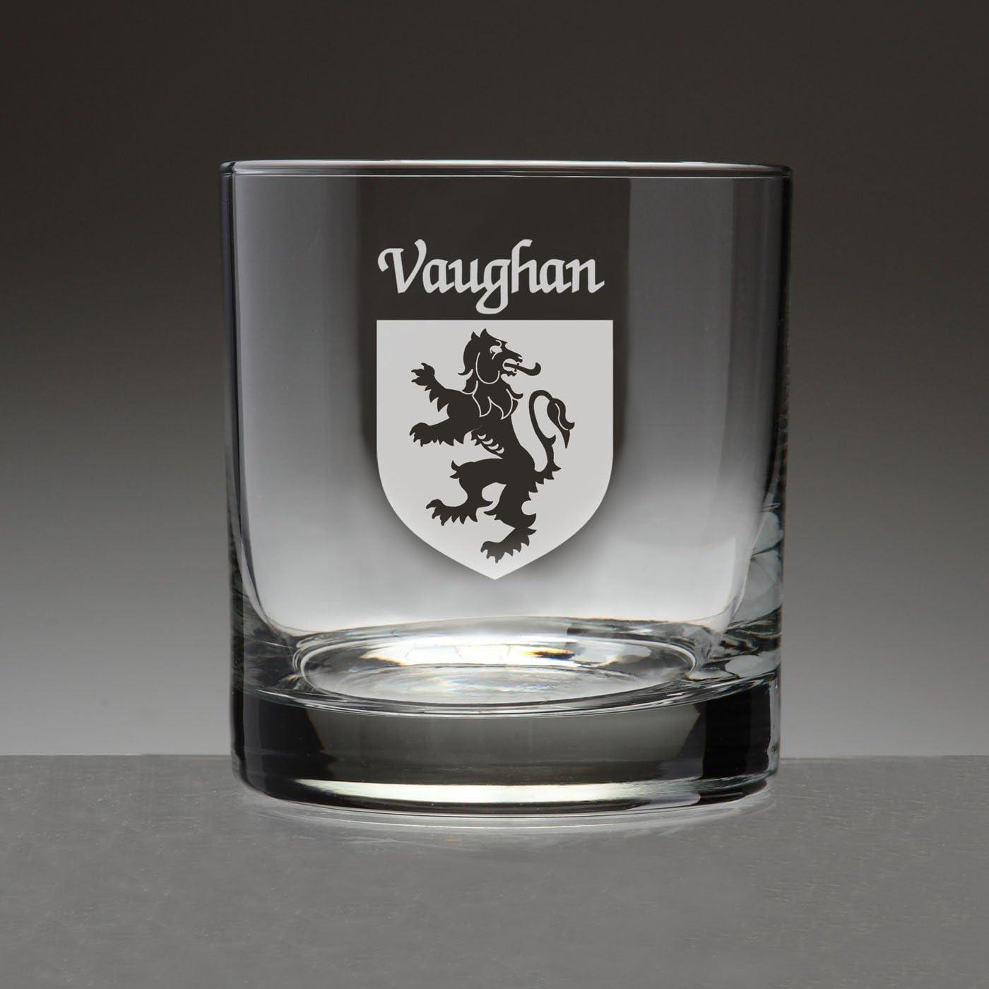 Vaughan Irish Coat of Max 46% OFF Arms 5 ☆ popular Tumbler Etch 4 Sand Glasses Set -