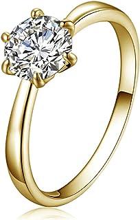 خواتم كريستال من يانهوا فئة للنساء، خواتم خطوبة لها، خاتم مرصع بحجر الراين، هدايا مجوهرات للنساء، 19 مم