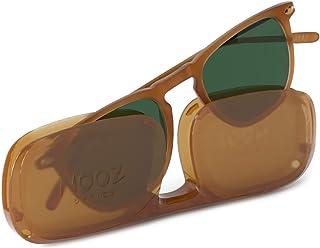 Okulary przeciwsłoneczne z polaryzacją dla kobiet i mężczyzn - kategoria ochrony 3 - kolor jasnozielony - z kompaktowym et...