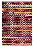 Second Nature Online - Alfombra de algodón Reciclado con Detalles de Punto (60 x 90 cm)