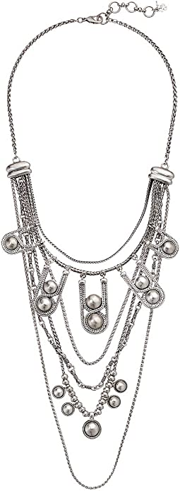 Chain Bead Statement Necklace