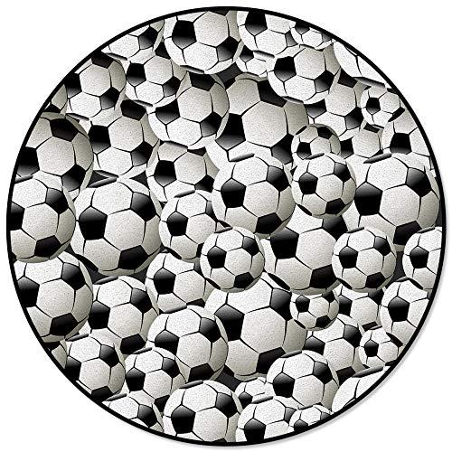 Balones de fútbol Alfombras Redondas de fútbol para Sala de Estar Áreas de hogar Alfombra Alfombra de Piso de Dormitorio Decoración para el hogar-S
